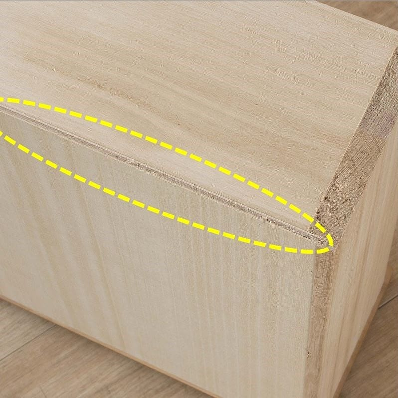 ビューティEX ローチェスト90(ナチュラル):分厚い底板がより強度を高める