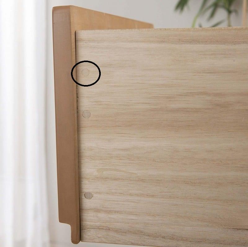 ビューティEX ローチェスト150(ナチュラル):木釘止め