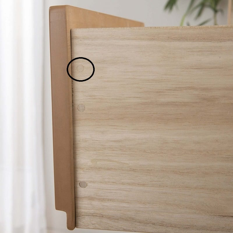 ビューティEX 洋服タンス90(ウォールナット):木釘止め