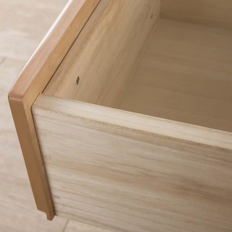 ビューティEX ローチェスト105(ダークブラウン):箱組み構造の引出し