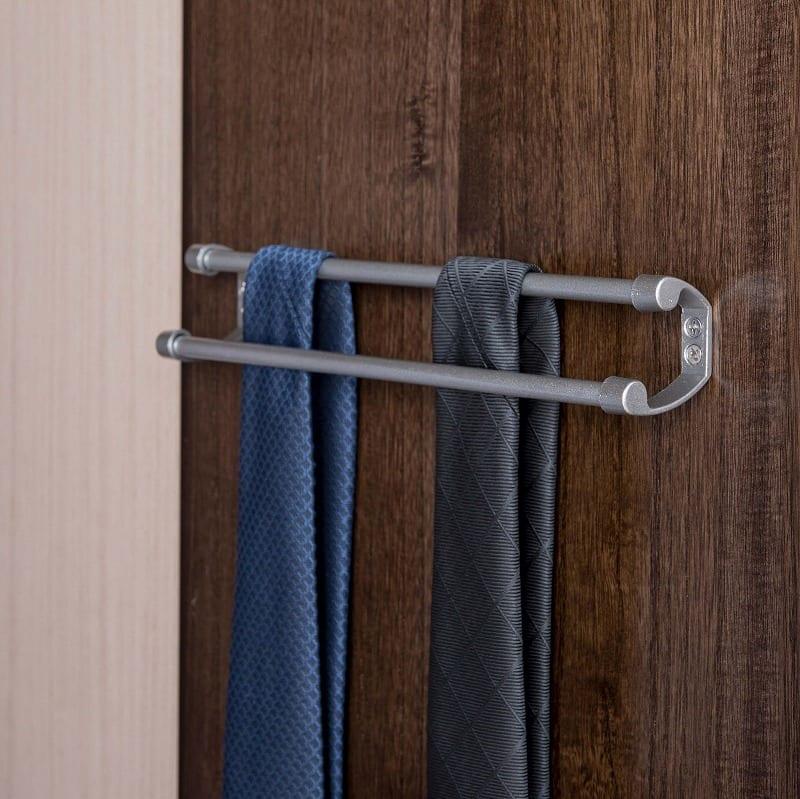 ワードローブ マースト60 ブラウン:便利なネクタイ掛け