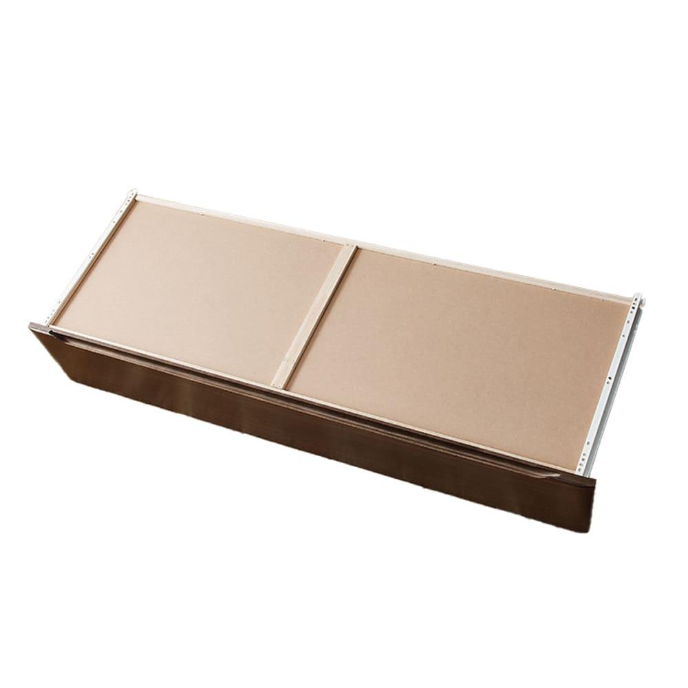 ワイドハイチェスト【重ね】 マースト150-6 ブラウン:フラット取っ手で万が一の時も安全