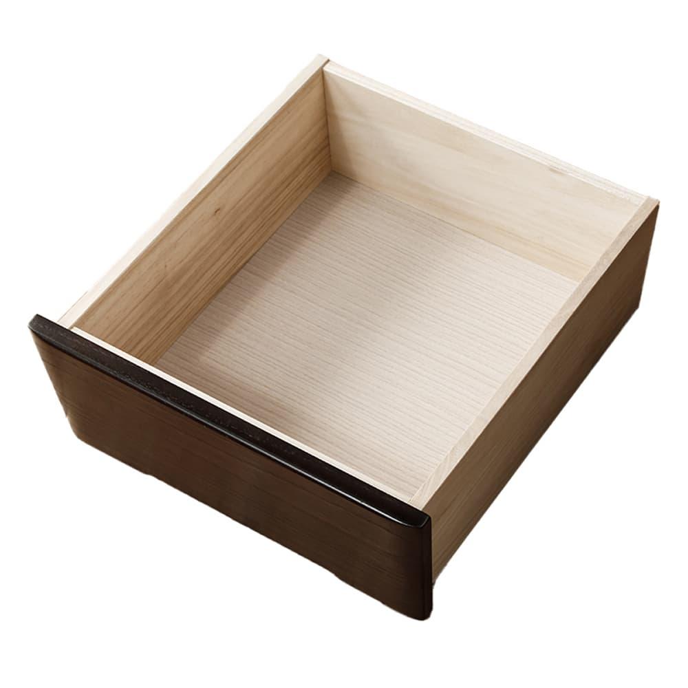 ワイドハイチェスト【重ね】 マースト150-6 ナチュラル:箱組仕様の引出で耐久性をUP