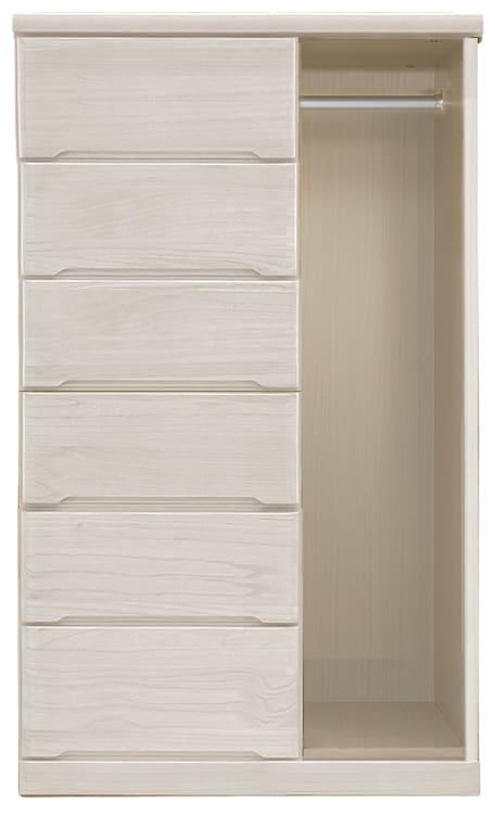 ハンガーチェスト マースト80-6(ホワイト):豊富なタイプ・サイズを3色でご用意