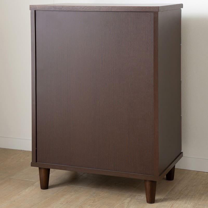アルカAL−43 ローチェスト 幅40cm×高さ67cm WH:背面化粧