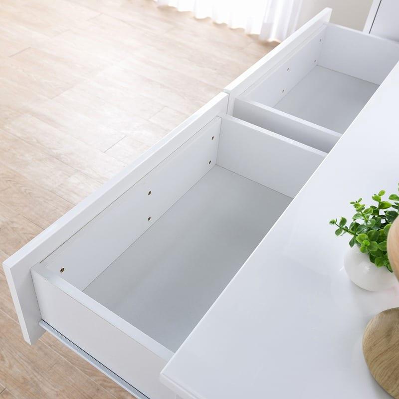ハイチェスト レプス80-5(ホワイト):箱組み仕様