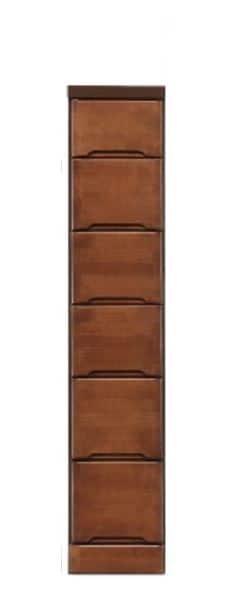 スリムチェスト クライン 25−6ブラウン:《ちょっとしたすき間に置けるお部屋のデットスペース活用》
