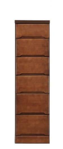 スリムチェスト クライン 35−6ブラウン:《ちょっとしたすき間に置けるお部屋のデットスペース活用》