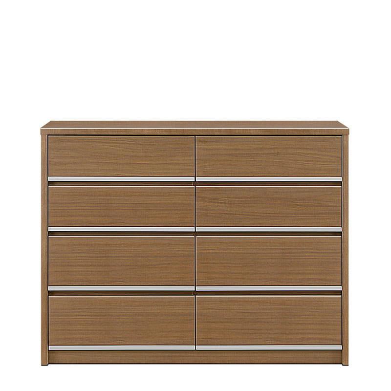 ローチェスト リベルテ 120−4L WN:お部屋に馴染む、シンプルなデザイン