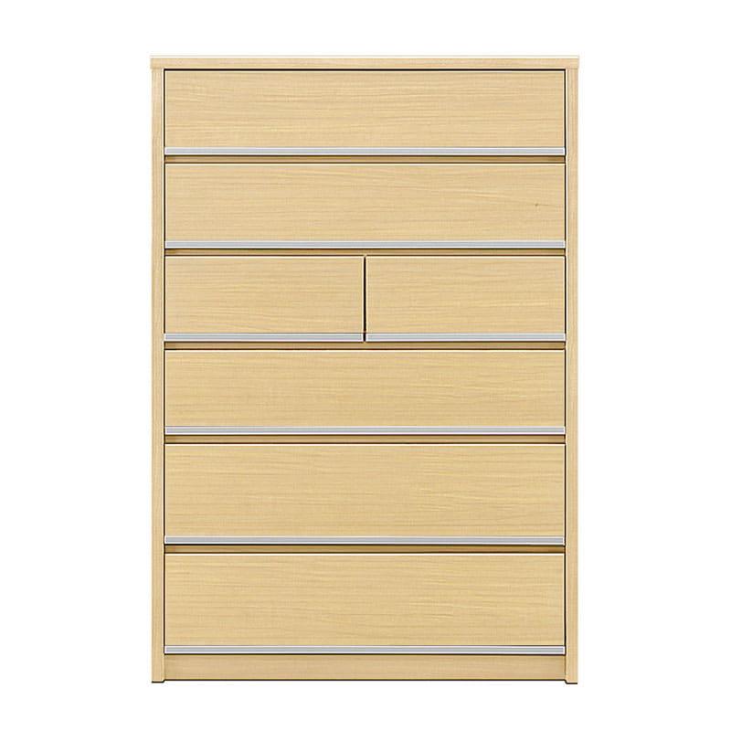 ハイチェスト リベルテ 90−6H NA:お部屋に馴染む、シンプルなデザイン