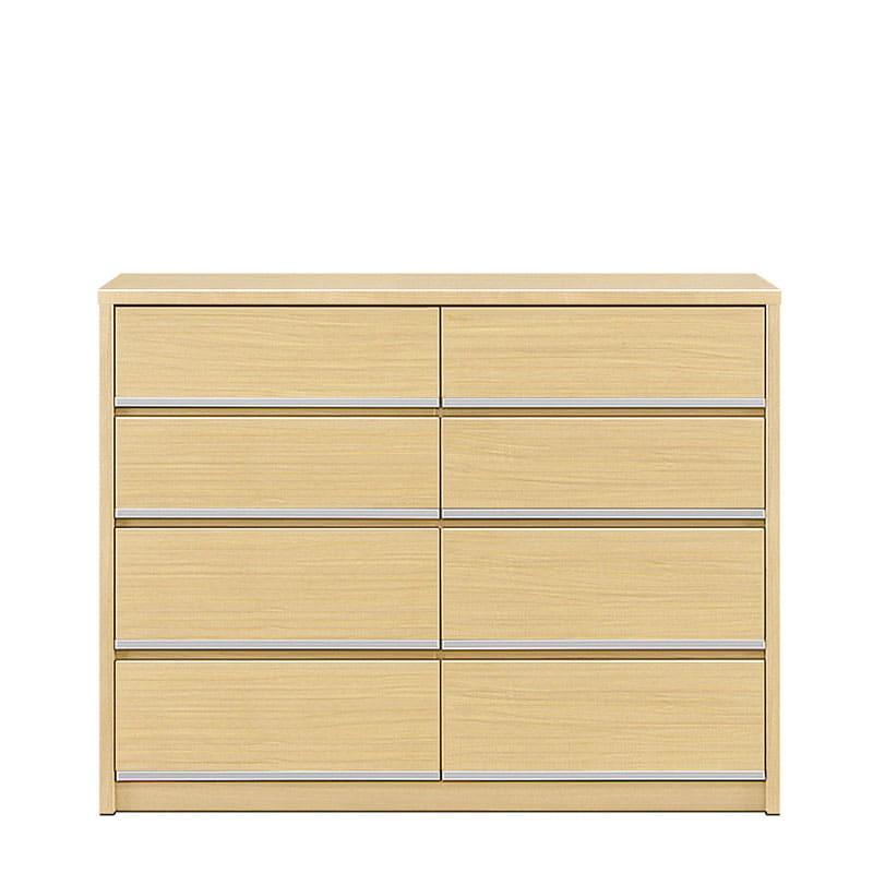 ローチェスト リベルテ 120−4L NA:お部屋に馴染む、シンプルなデザイン