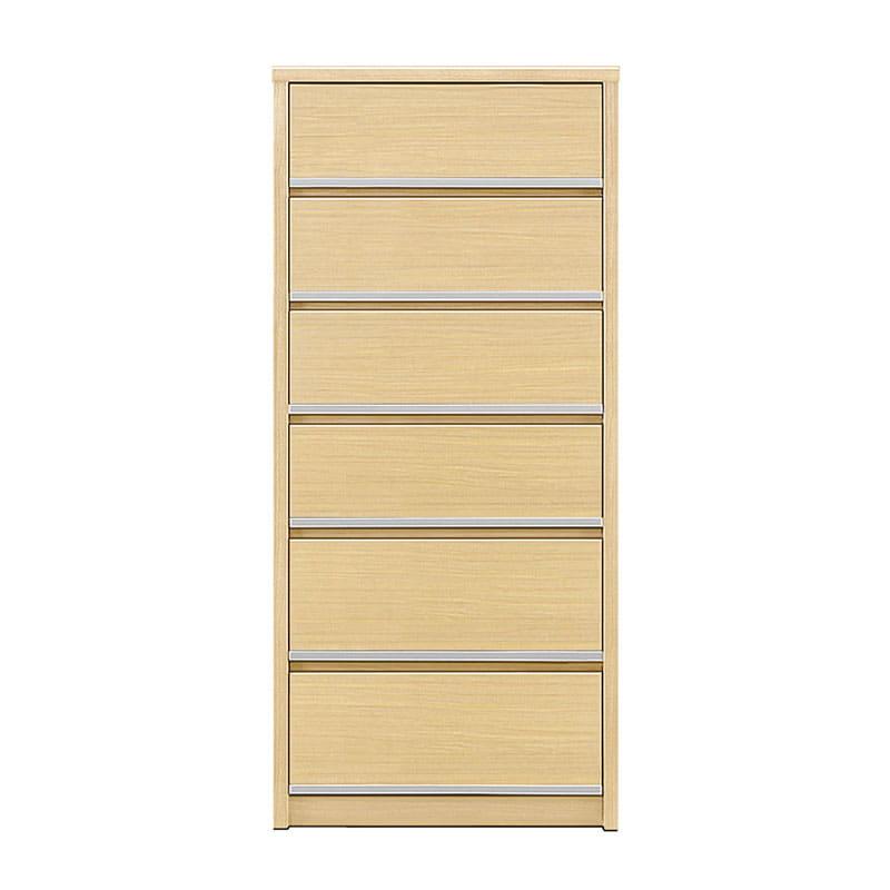 ハイチェスト リベルテ 60−6H NA:お部屋に馴染む、シンプルなデザイン