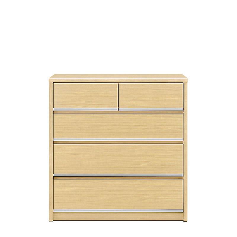 ローチェスト リベルテ 90−4L NA:お部屋に馴染む、シンプルなデザイン