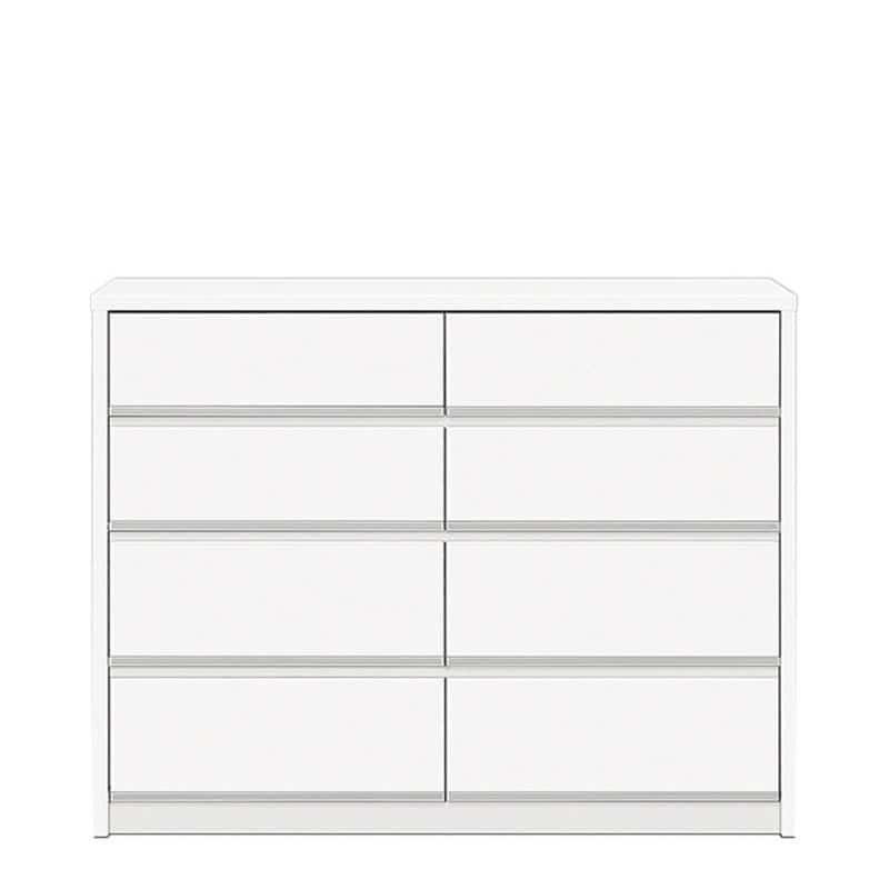 ローチェスト リベルテ 120−4L WH:お部屋に馴染む、シンプルなデザイン