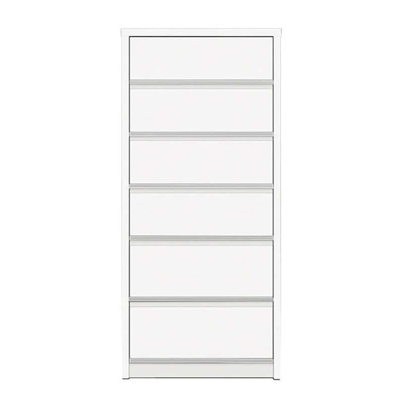 ハイチェスト リベルテ 60−6H WH:お部屋に馴染む、シンプルなデザイン