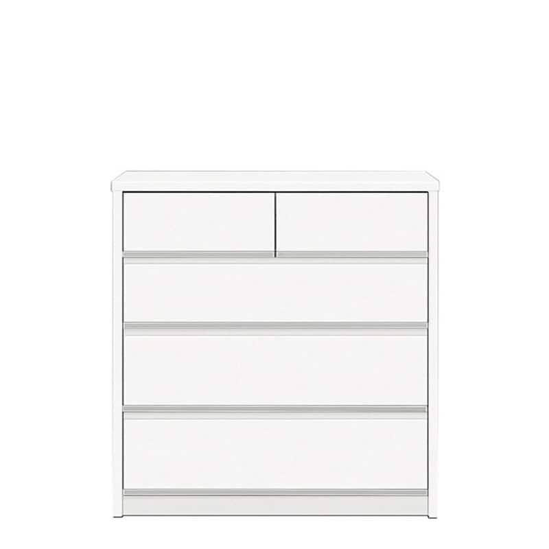 ローチェスト リベルテ 90−4L WH:お部屋に馴染む、シンプルなデザイン