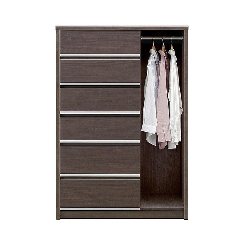 ハンガーチェスト リベルテ 90−6 DBR:お部屋に馴染む、シンプルなデザイン