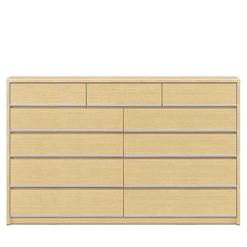 ハイチェスト リベルテ 180−5 NA:お部屋に馴染む、シンプルなデザイン