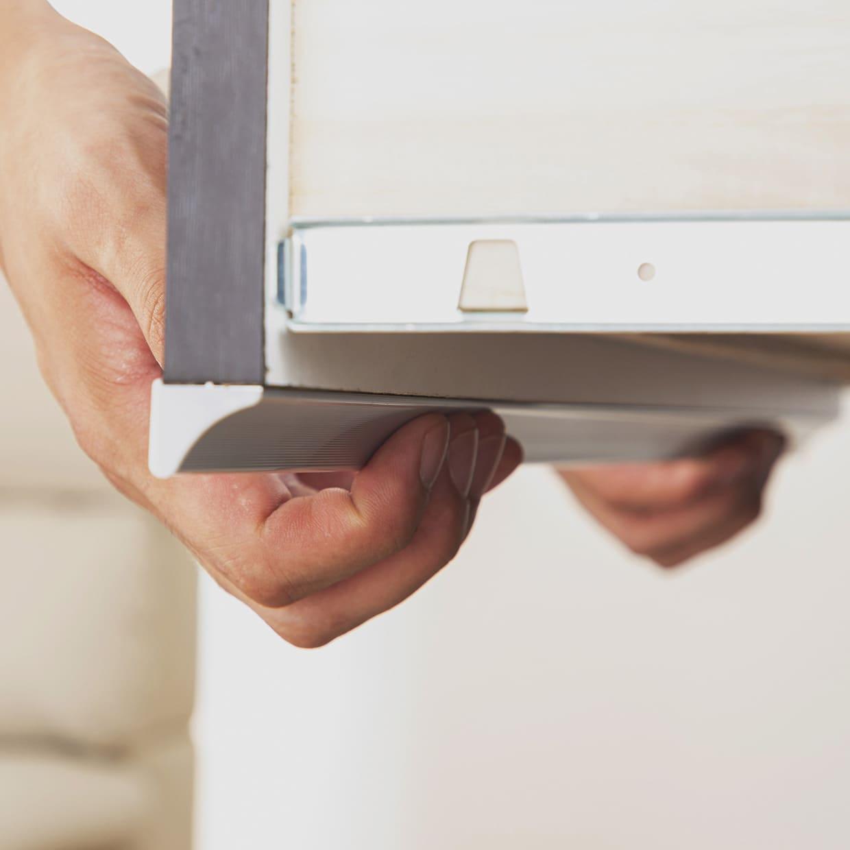 ハイチェスト リベルテ 150−5 DBR:指を引っ掛けやすい取っ手