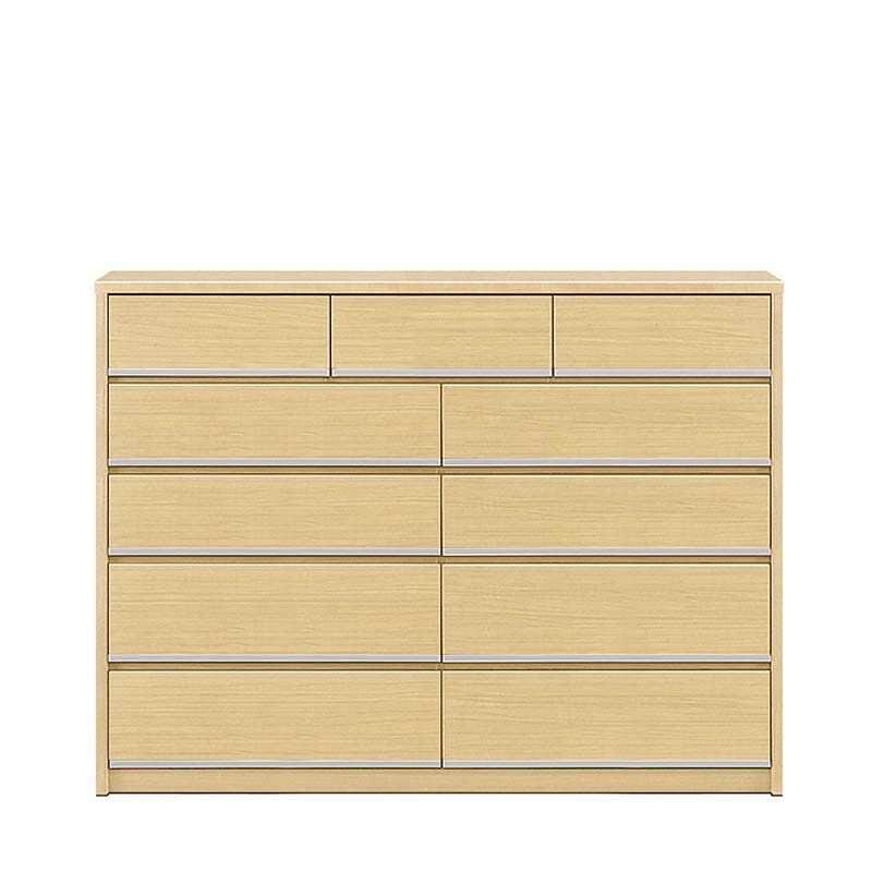ハイチェスト リベルテ 150−5 NA:お部屋に馴染む、シンプルなデザイン