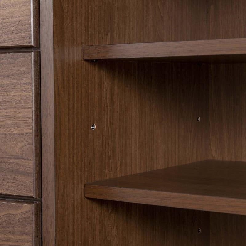 チェスト【下台】 ナット 60 ウェンジ/取手シルバー:棚板の高さ調節も簡単