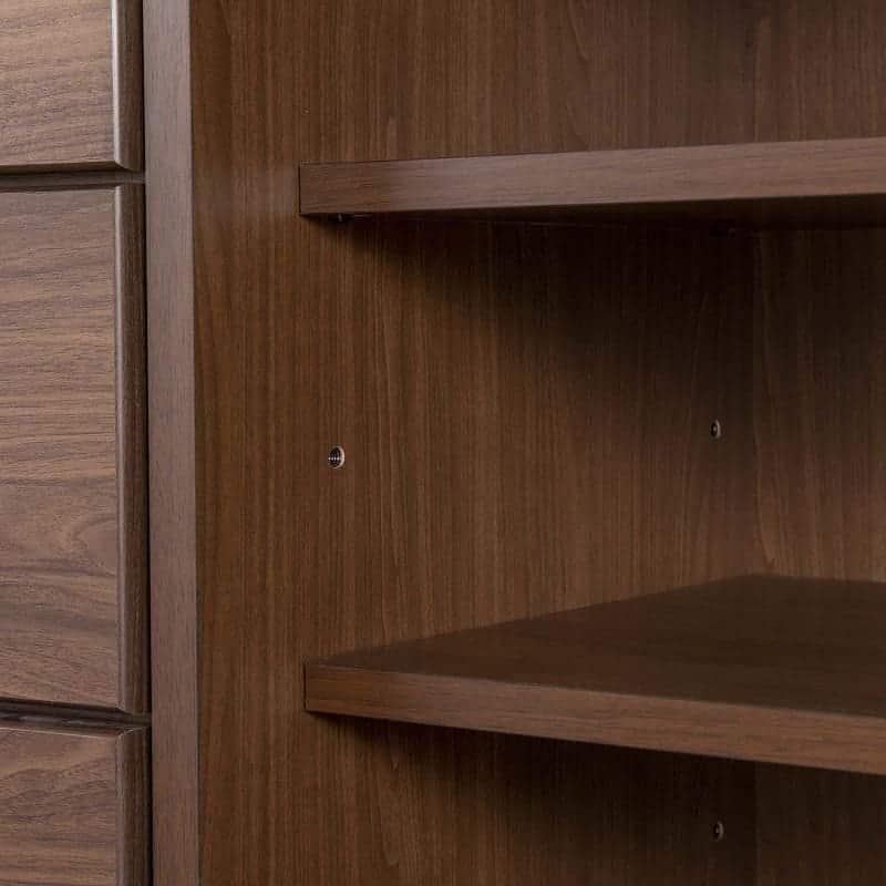 チェスト【下台】 ナット 60 下台チェスト レーングレー/取手ブラック:棚板の高さ調節も簡単