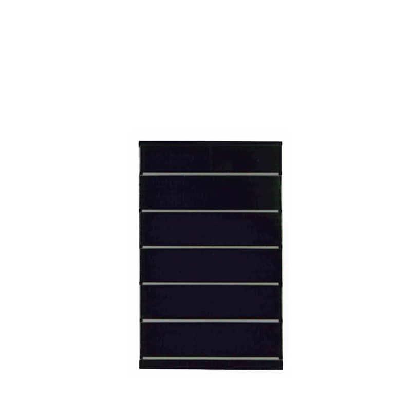 ハイチェスト ウォール90HC BK木目:◆材質:ハイグロスシート/MDF