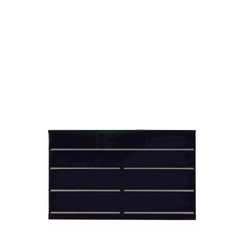ローチェスト ウォール150LC BK木目:◆材質:ハイグロスシート/MDF