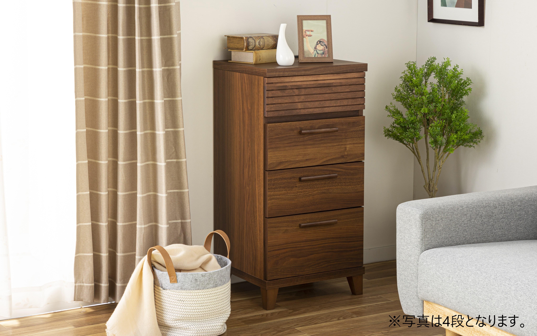 :お部屋のスタイルに合わせやすい、スリムチェスト