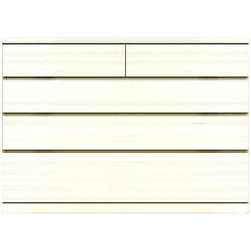 ローチェスト シルフ 118−4段 WH:シンプルかつ洗練されたデザイン