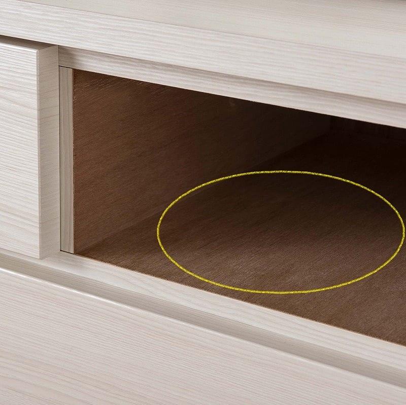 ハイチェスト シルフ 102−6段 NA:強度を高める地板(スラセ)は全段完備
