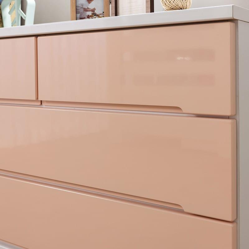 ローチェスト アトリエ 80−3L WH:エナメル塗装