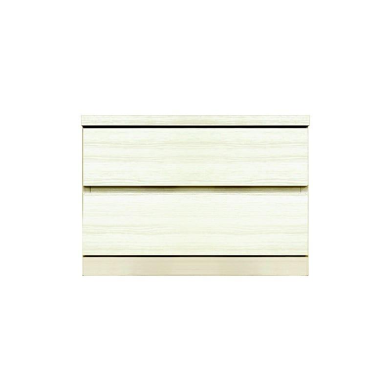 ローチェスト シルフ−フィット 60−2段チェスト(奥行き:44cm)ホワイト:【シンプルだけど上質クローゼット収納チェスト「シルフーフィット」