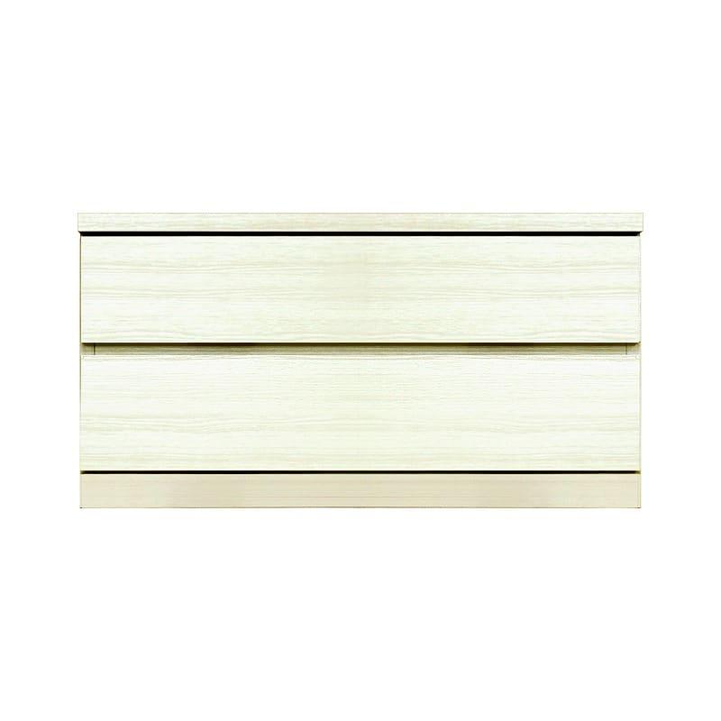 ローチェスト シルフ−フィット 80−2段チェスト(奥行き:44cm)ホワイト:【シンプルだけど上質クローゼット収納チェスト「シルフーフィット」