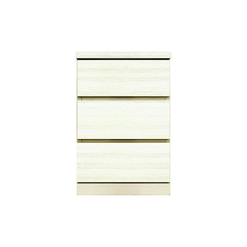 ローチェスト シルフ−フィット 40−3段チェスト(奥行き:44cm)ホワイト:【シンプルだけど上質クローゼット収納チェスト「シルフーフィット」