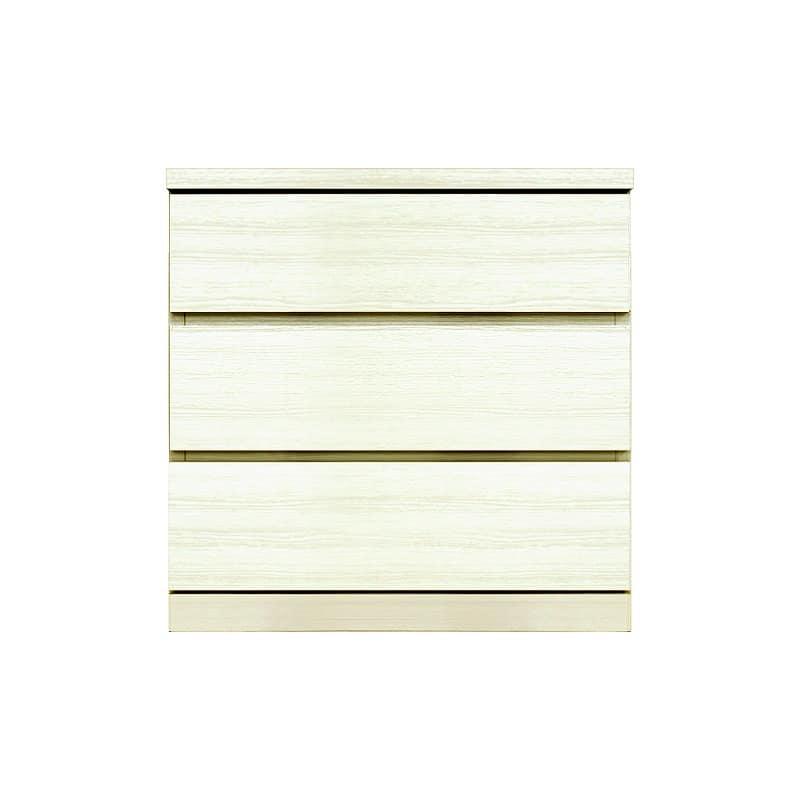 ローチェスト シルフ−フィット 60−3段チェスト(奥行き:44cm)ホワイト:【シンプルだけど上質クローゼット収納チェスト「シルフーフィット」