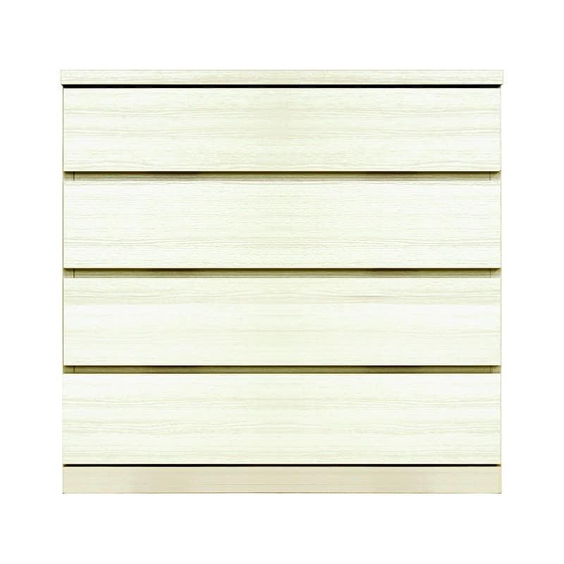 ローチェスト シルフ−フィット 80−4段チェスト(奥行き:44cm)ホワイト:【シンプルだけど上質クローゼット収納チェスト「シルフーフィット」