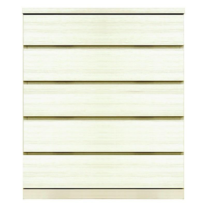 ミドルチェスト シルフ−フィット 80−5段チェスト(奥行き:44cm)ホワイト:【シンプルだけど上質クローゼット収納チェスト「シルフーフィット」
