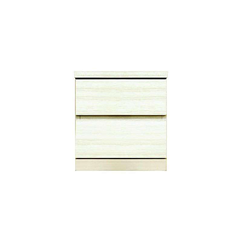 ローチェスト シルフ−フィット 40−2段チェスト(奥行き:55cm)ホワイト:【シンプルだけど上質クローゼット収納チェスト「シルフーフィット」