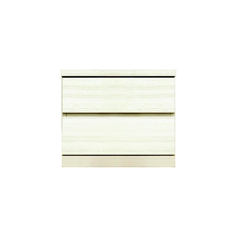ローチェスト シルフ−フィット 50−2段チェスト(奥行き:55cm)ホワイト:【シンプルだけど上質クローゼット収納チェスト「シルフーフィット」