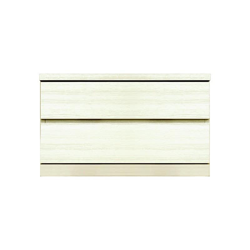 ローチェスト シルフ−フィット 70−2段チェスト(奥行き:55cm)ホワイト:【シンプルだけど上質クローゼット収納チェスト「シルフーフィット」