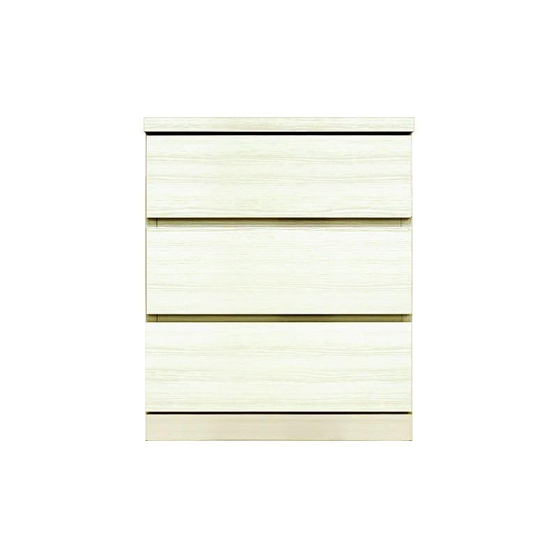 ローチェスト シルフ−フィット 50−3段チェスト(奥行き:55cm)ホワイト:【シンプルだけど上質クローゼット収納チェスト「シルフーフィット」
