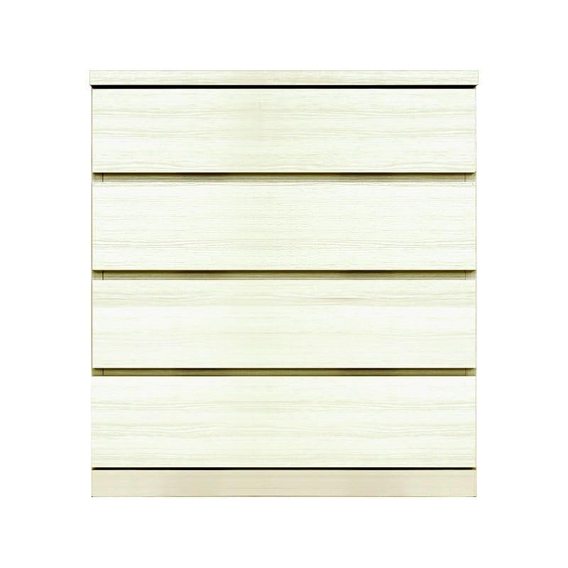 ローチェスト シルフ−フィット 70−4段チェスト(奥行き:55cm)ホワイト:【シンプルだけど上質クローゼット収納チェスト「シルフーフィット」