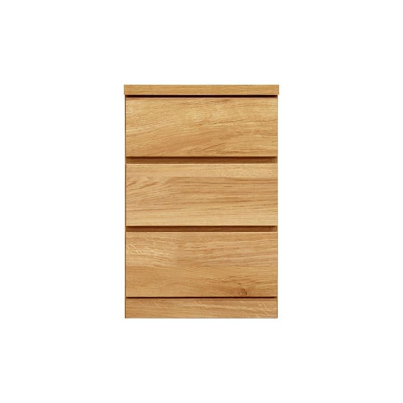 ローチェスト シルフ−フィット 40−3段チェスト(奥行き:55cm)オーク:【シンプルだけど上質クローゼット収納チェスト「シルフーフィット」