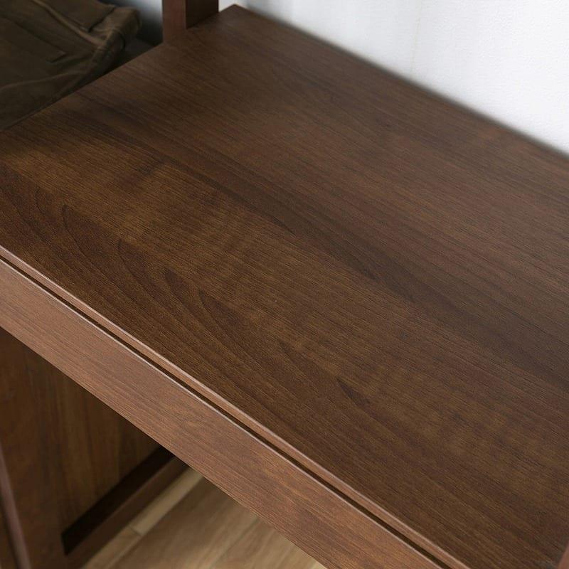 【ユニット収納】シェルフ ヴァリアス 80シェルフ LBR:部屋にマッチする木目天板