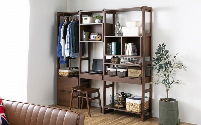 オプション棚板 ヴァリアス 棚板80 LBR:衣類から小物まで何でも収納OK!