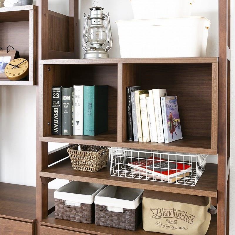 オプション棚板 ヴァリアス 棚板80 LBR:本棚としても使える