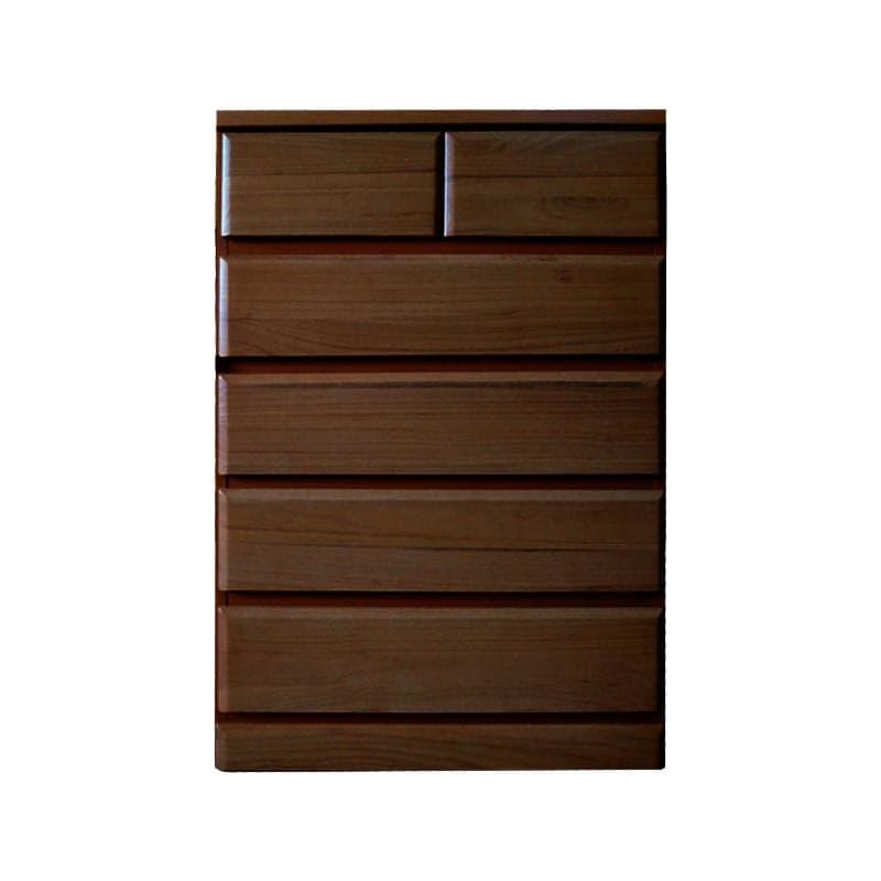 ハイチェスト ドール80−5 BR:桐材を使用したシンプルなデザインのチェスト