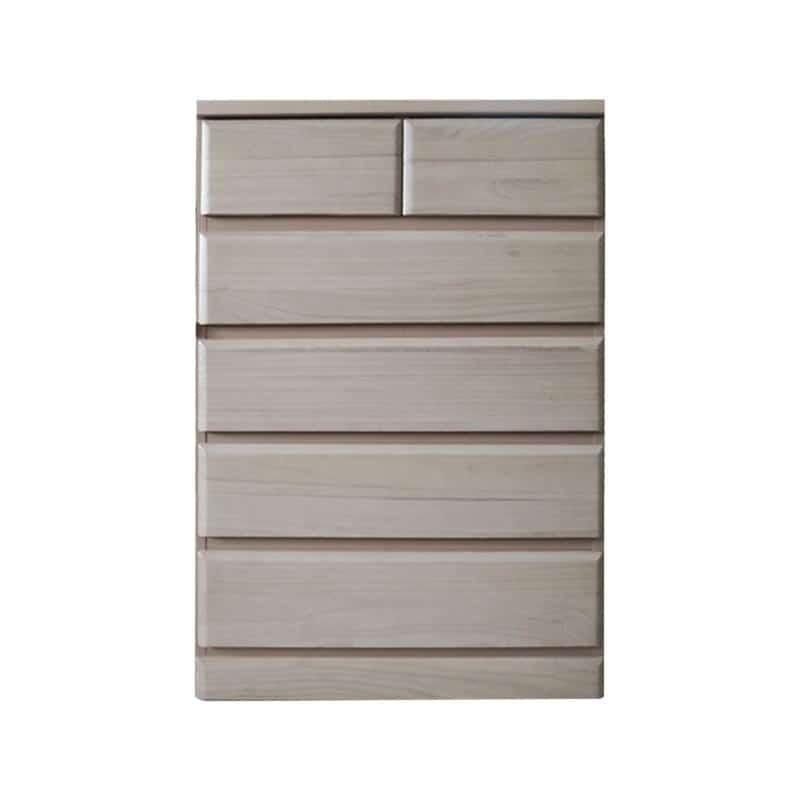ハイチェスト ドール80−5 WH:桐材を使用したシンプルなデザインのチェスト