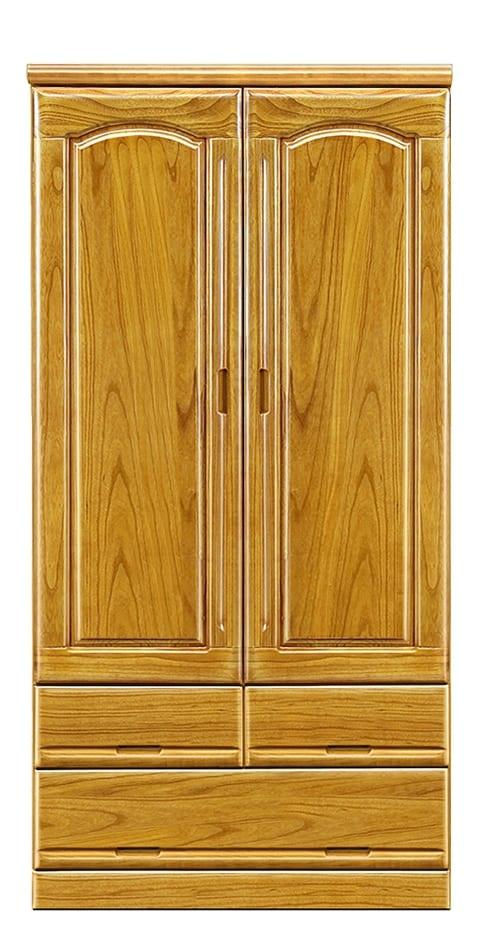 【ネット限定】洋服タンス ガリバー90(NA):前板は天然木・桐無垢材を使用しています。